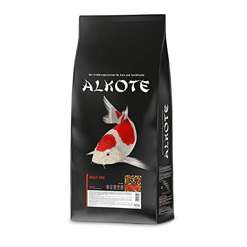 AL-KO-TE, 1-Jahreszeitenfutter für Kois, Sommermonate, Schwimmende Pellets, 6 mm, Hauptfutter Multi Mix, 13,5 kg